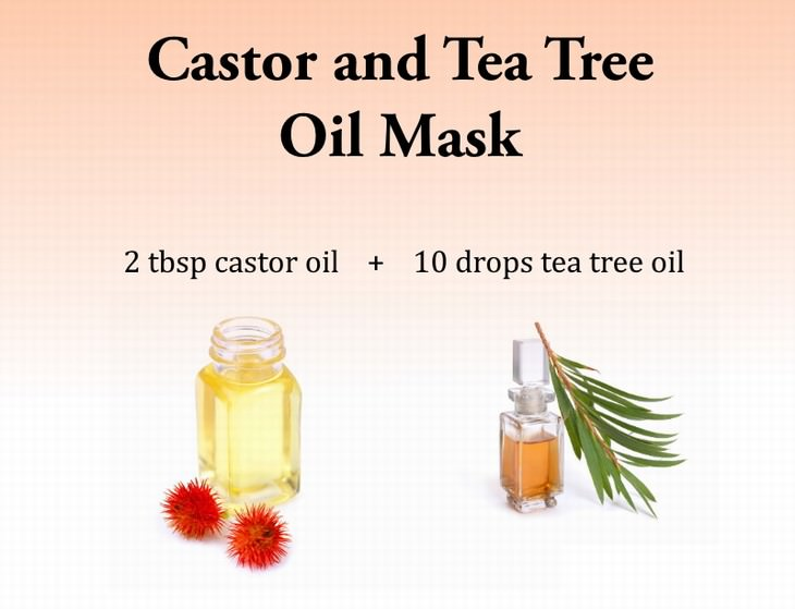 scalp masks Castor and Tea Tree Oil Mask