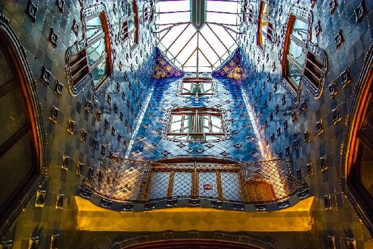 Antoni Gaudi Artist Portrait The interior of Casa Batillo