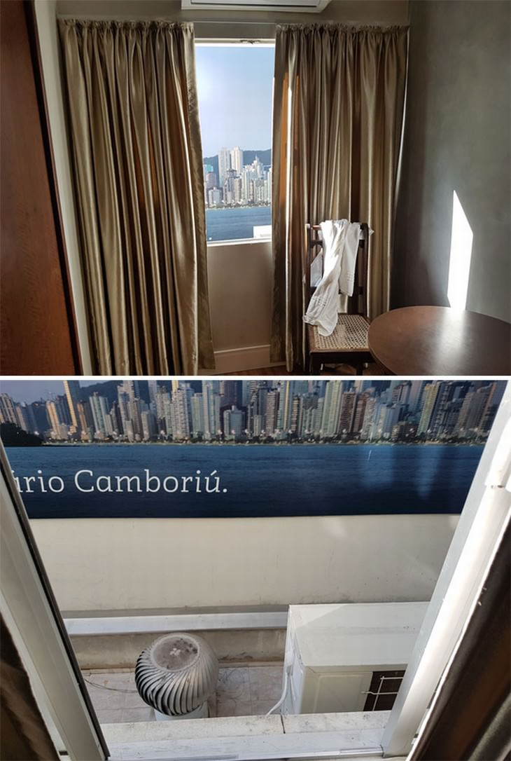 terrible hotel rooms fake window