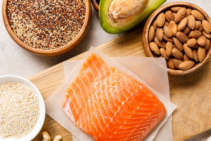 Weight loss plateau: protein quinoa salmon avocado almonds