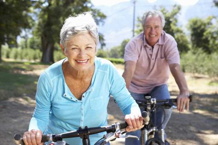 exercise for seniors myths woman and man on bike