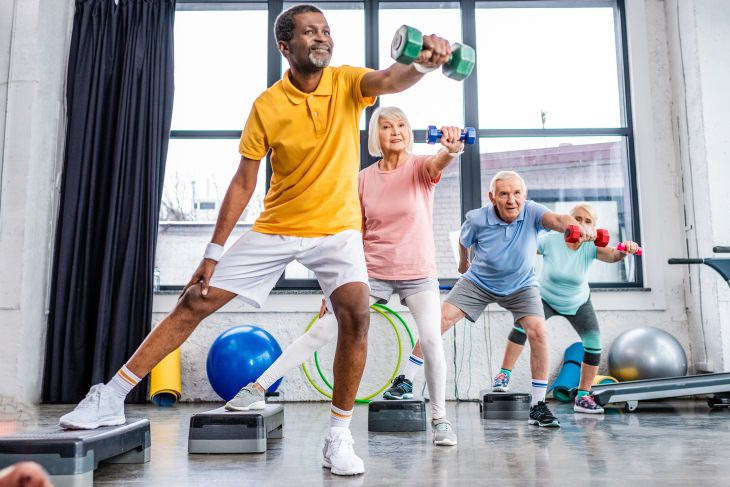 exercise for seniors myths people exercising