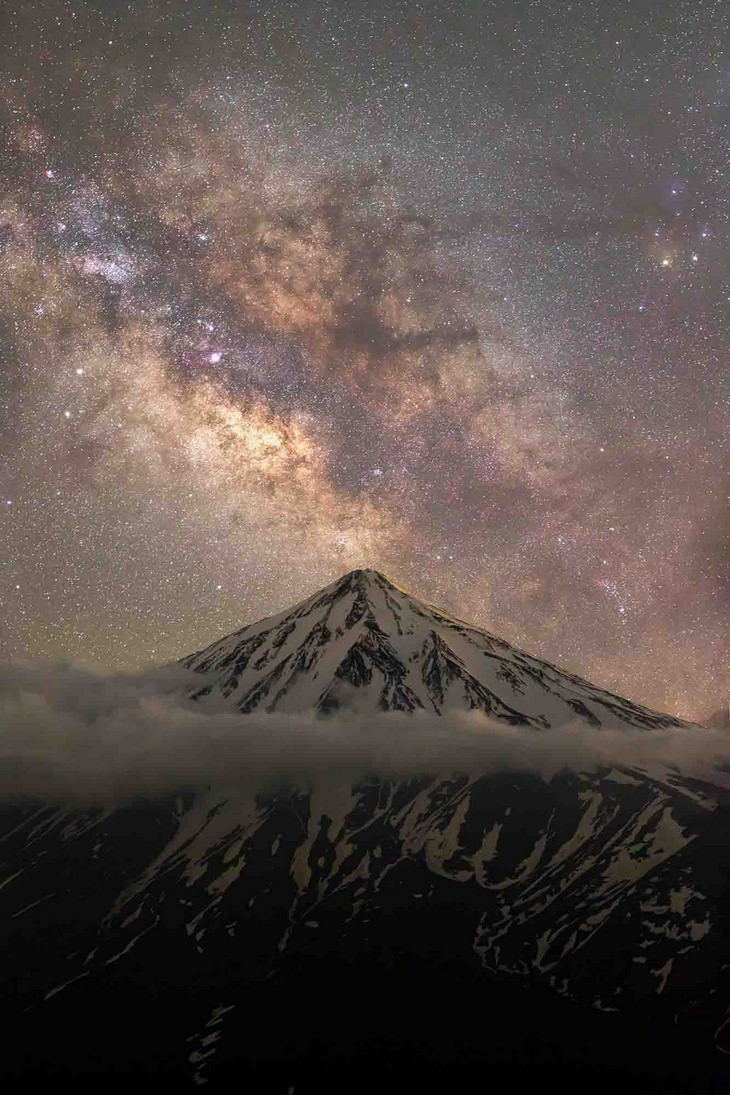 Astronomy pictures: mountain sky