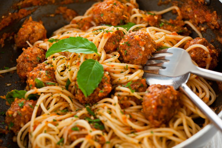 tomatoes cancer iron spaghetti and meatballs