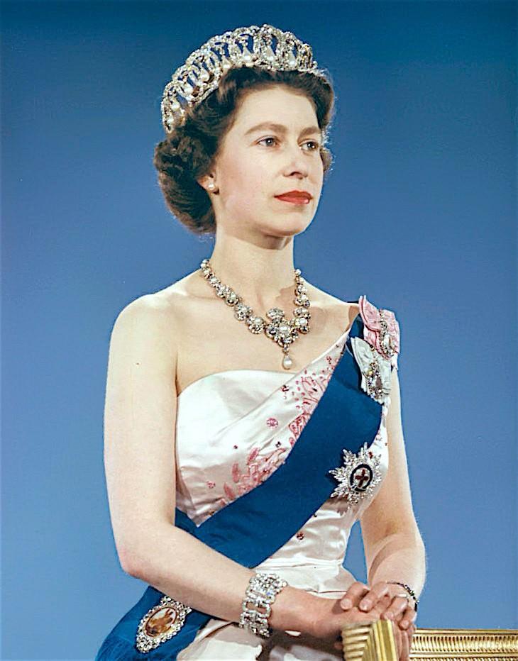 queen elizabeth II funeral operation london bridge portrait coronation