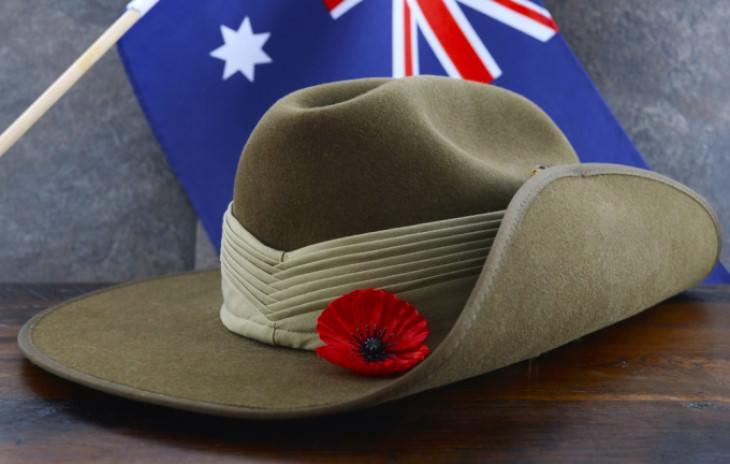 joke: Australian army hat