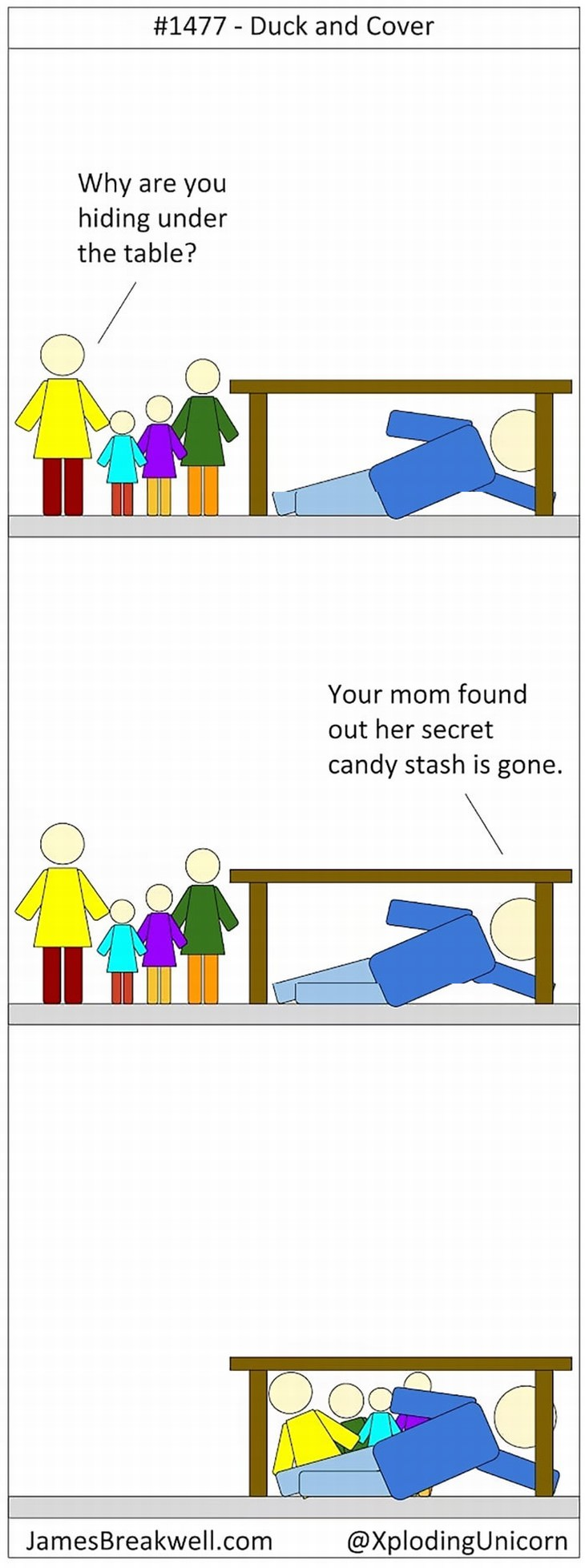 parenting comics duck and cover