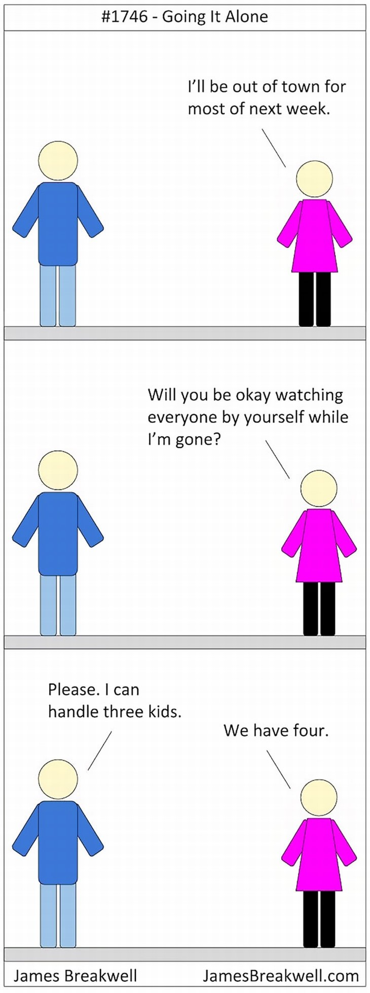 parenting comics James Breakwell going it alone