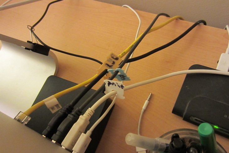 Cable organizing: bread clip labels