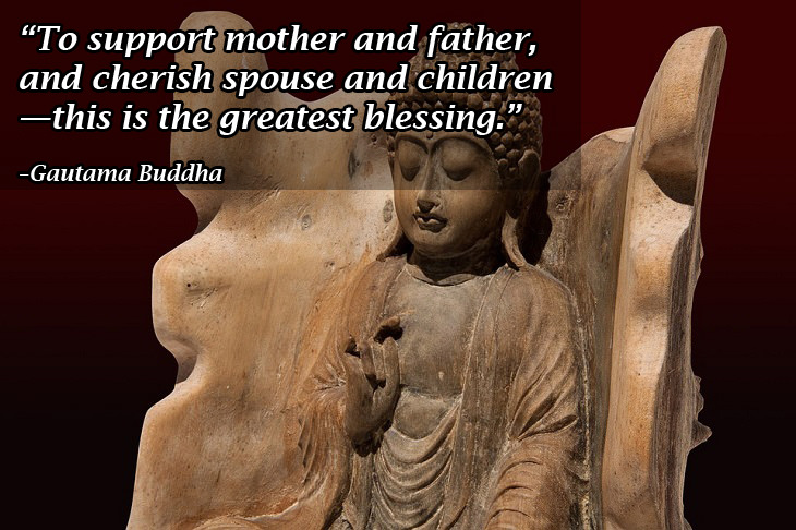 Buddhist wisdom: Buddha parents, spouse and children