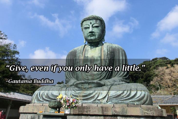 Buddhist wisdom: Buddha generosity