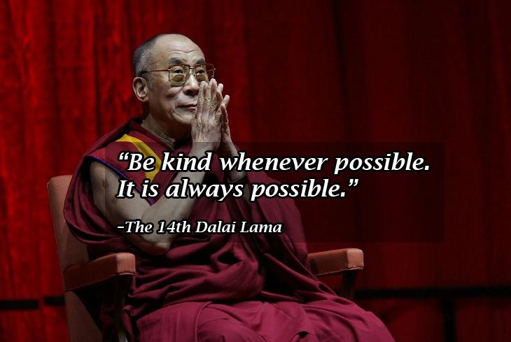 Buddhist wisdom: Dalai Lama kindness