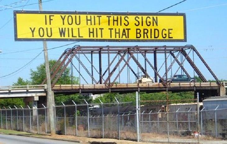 Witty Signs Bridge