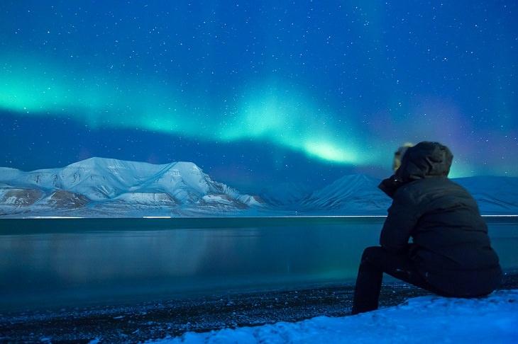 Lugares desconhecidos - Polo Norte, aurora boreal