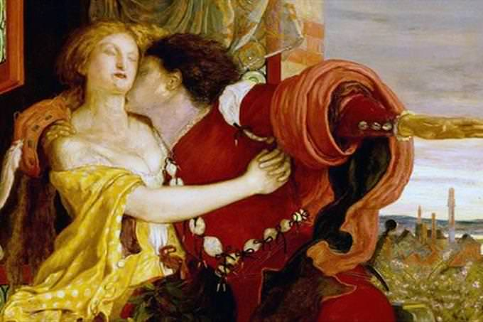 romeo kissing juliet's neck