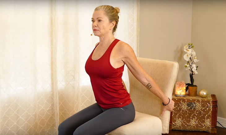 chair stretches Heart Opener stretch