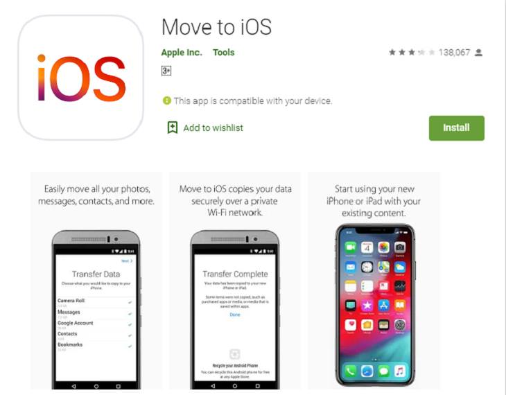 Android to iPhone,Move To IOS