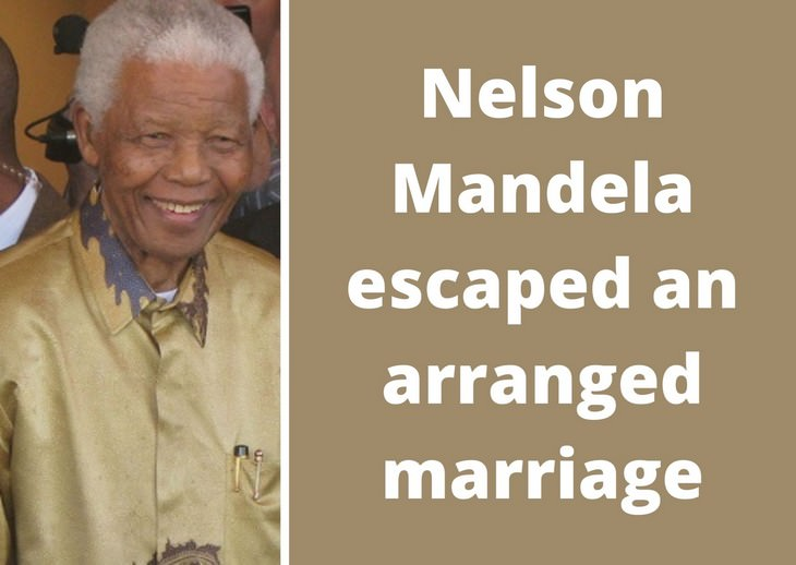 Nelson Mandela facts, arranged marriage