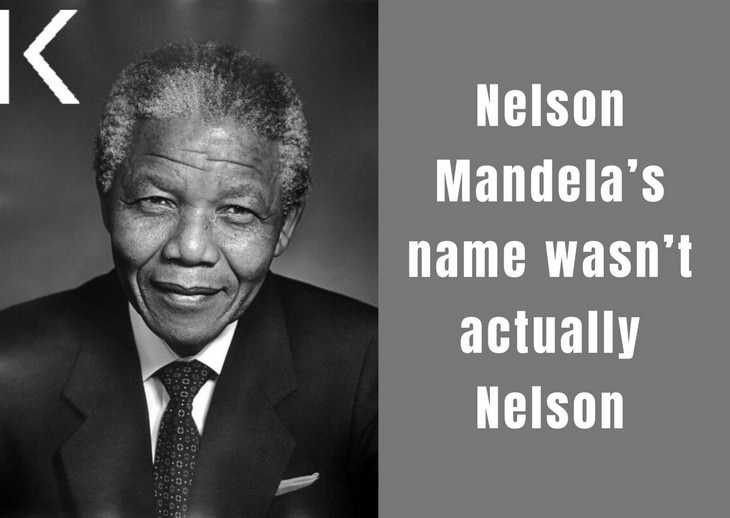 Nelson Mandela facts,  real name