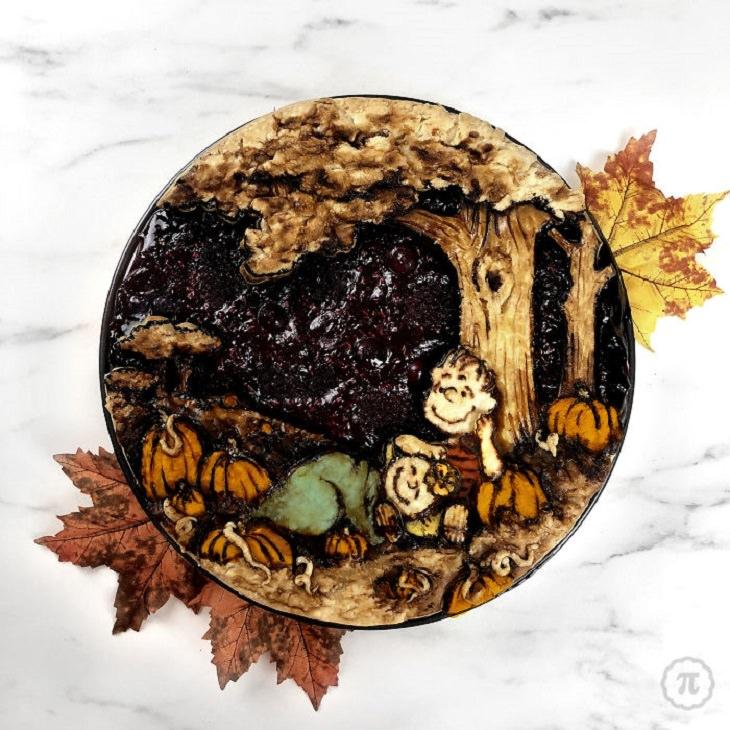 Beautiful, creative and halloween-themed pie art by Jessica Clark-Bojin , snoopy