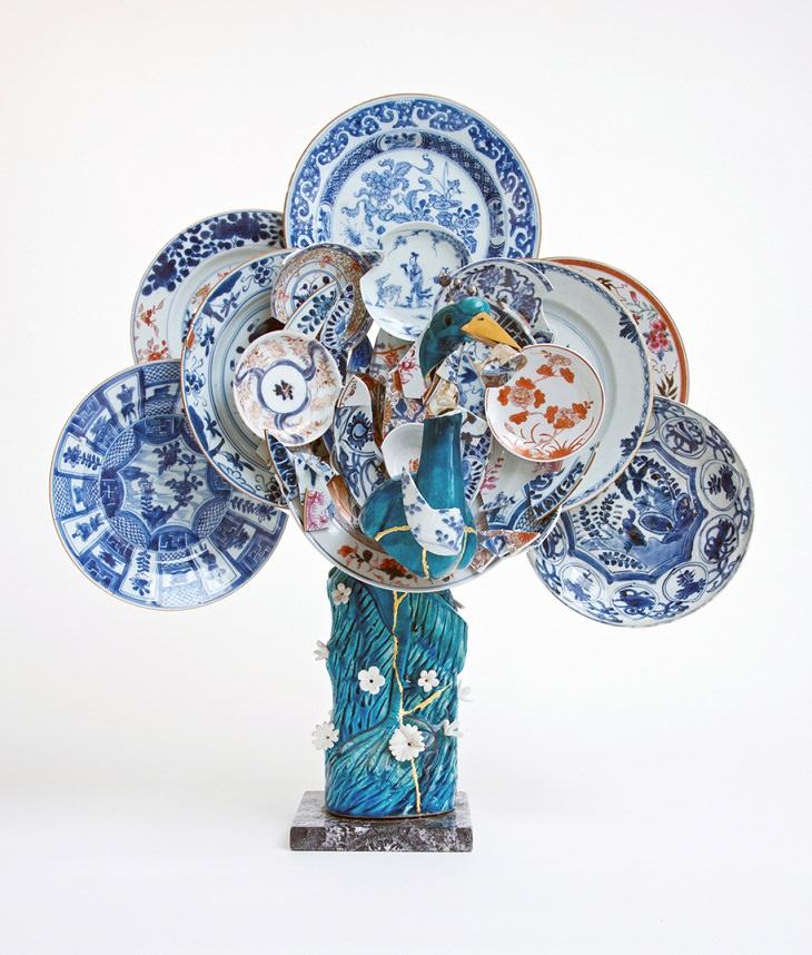 Discarded Ceramics Peacock