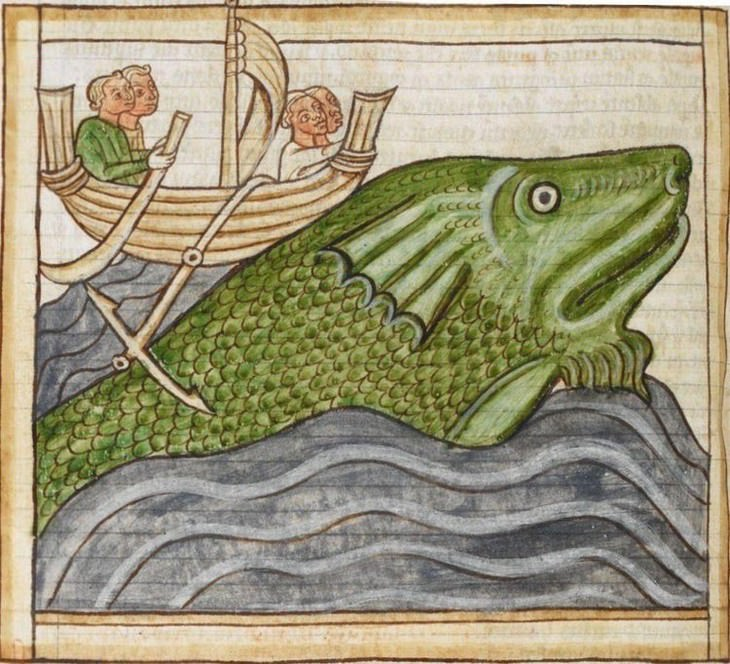 Hilarious Medieval Paintings of Animals, whale