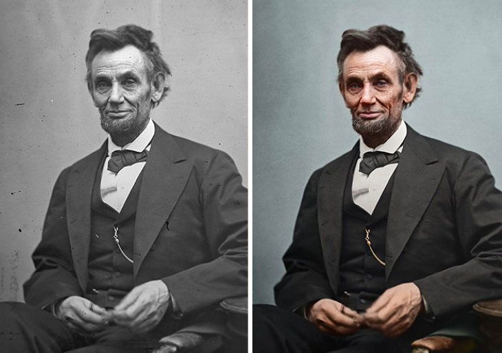 Photo Restorations of US Presidents 16th President: Abraham Lincoln (1861-1865)