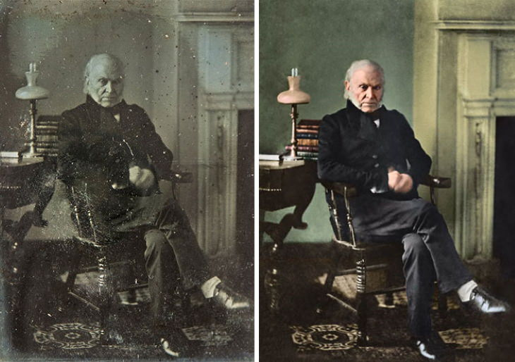 Photo Restorations of US Presidents 6th President: John Quincy Adams (1825-1829)