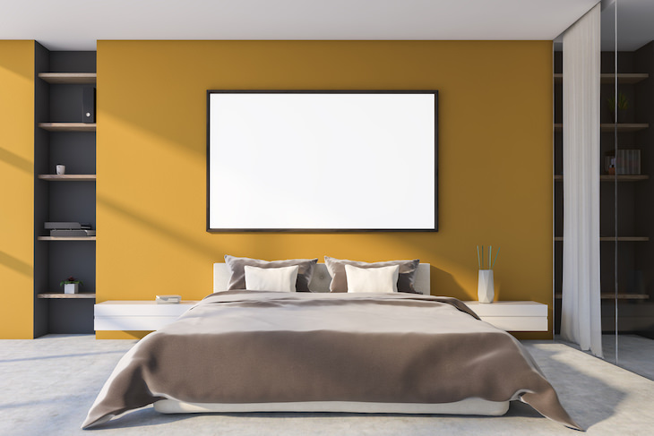 The 5 Worst Colors for Your Bedroom Walls, yellow bedroom