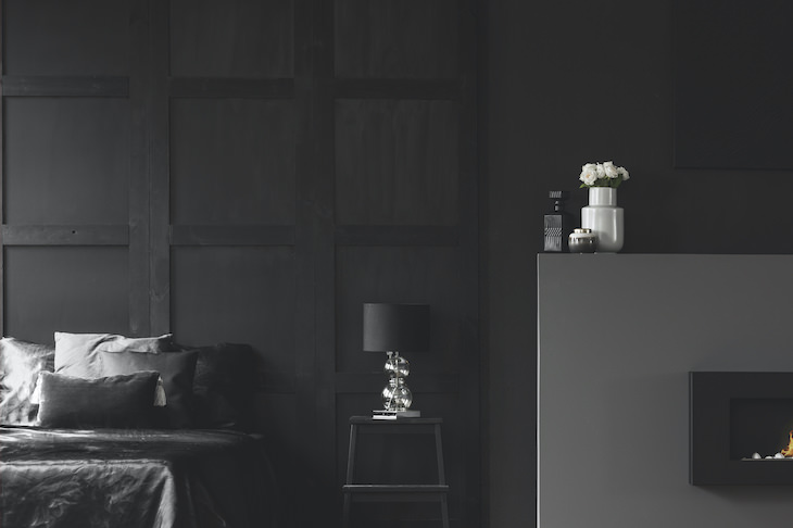 The 5 Worst Colors for Your Bedroom Walls, black bedroom