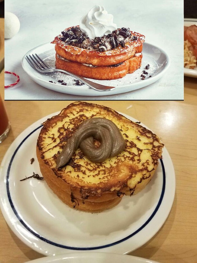 Food Ads vs Reality Cookies And Cream Stuffed French Toast
