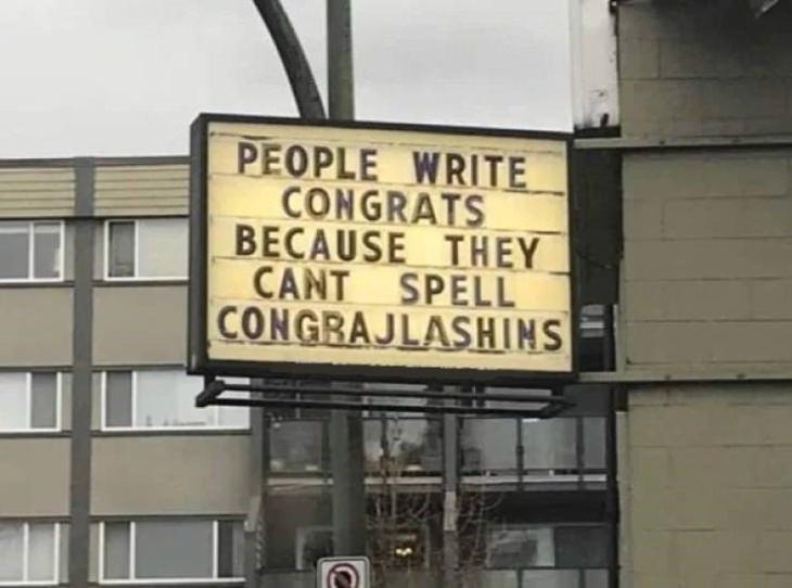 funny signs Congrajlashins