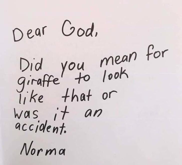 3rd-Graders Ask God giraffe