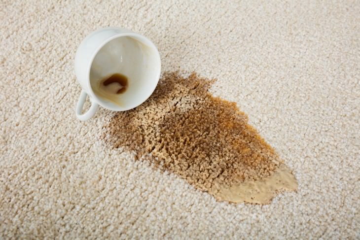 Hacks for Removing Tea Stains tea spill on carpet