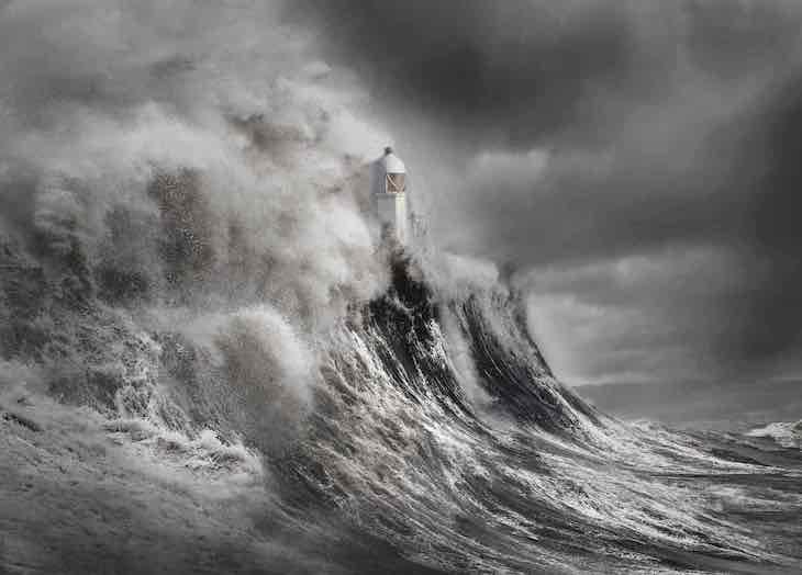 """Landscape Photography Awards Highlight UK's Beauty, """"Drama at the Lighthouse"""" by Aleks Gjika"""