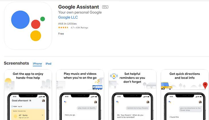 Voice-Activated Apps, 1. Google Assistant