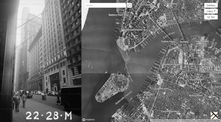 1940s New York City Street Map screenshot