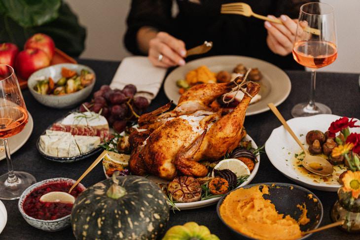 Tryptophan thanksgiving dinner