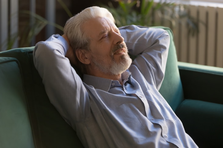 Aging Myths older man napping
