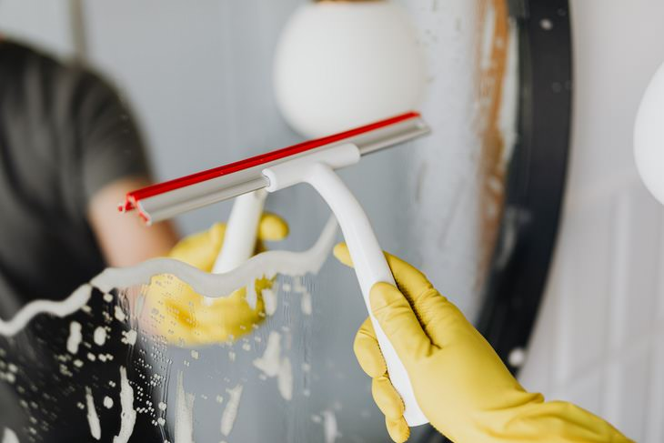 Traditional Cleaning Tricks window cleaning