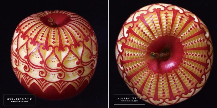 Tomoko Sato fruit carvings