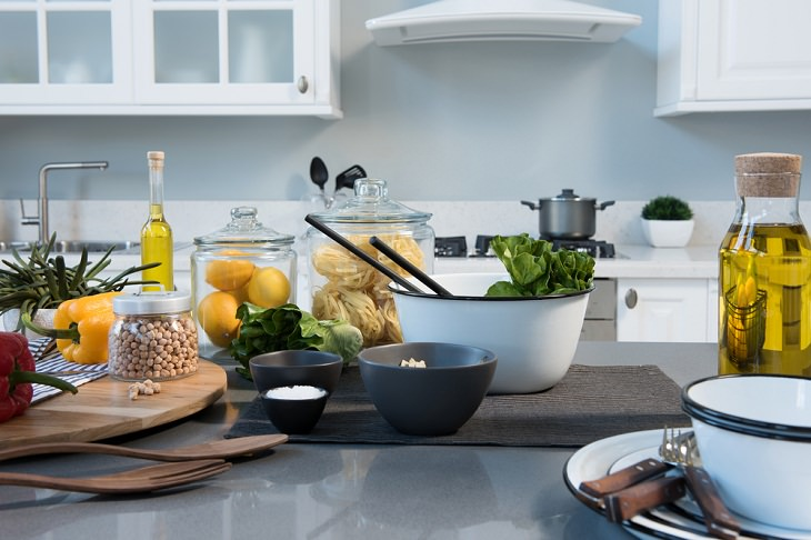 Things That Make Your Kitchen Look Messy, clutter on the counter