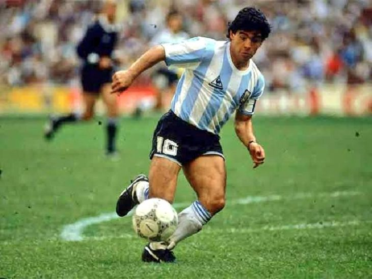 Facts About Diego Maradona, in action