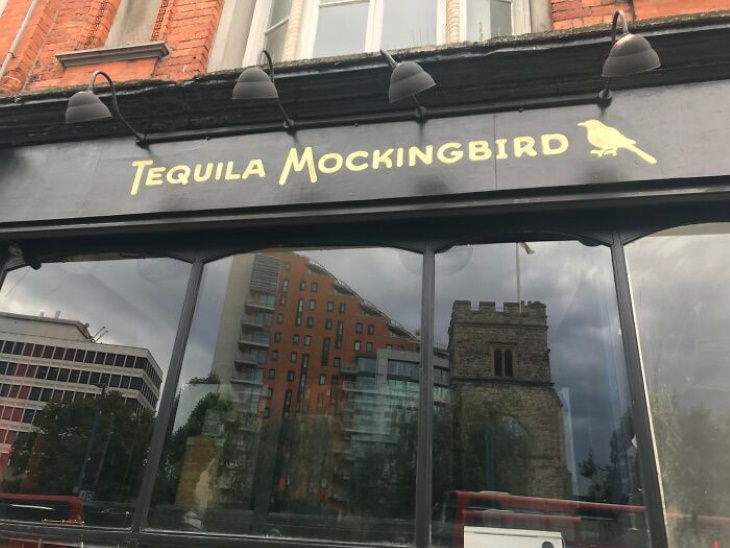 British shop names with puns tequila mockingbird