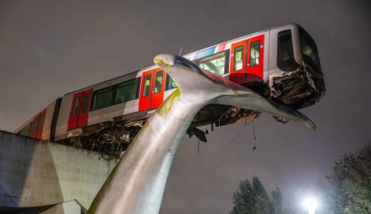 19 Images of Unusual Sights Around the World, tram accident, netherlands