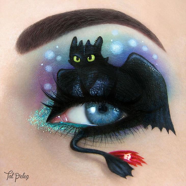 Incredible Makeup Artist Uses Eyelids As Canvas, dragon