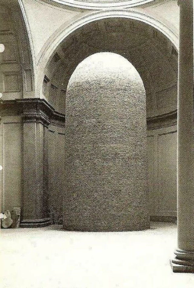 Historical Photos The Statue of David by Michelangelo had been encased in bricks during WW2 to prevent damage from bombs