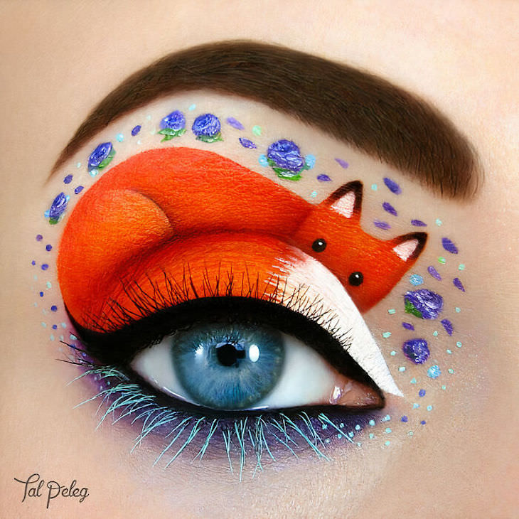 Incredible Makeup Artist Uses Eyelids As Canvas, cute fox