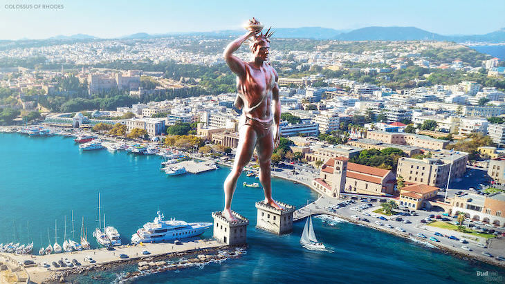 3D Reconstruction of The 7 Wonders of the Ancient World,  Colossus of Rhodes