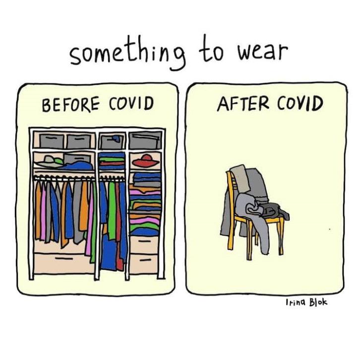 COVID-19 Comics by  Irina Blok something to wear